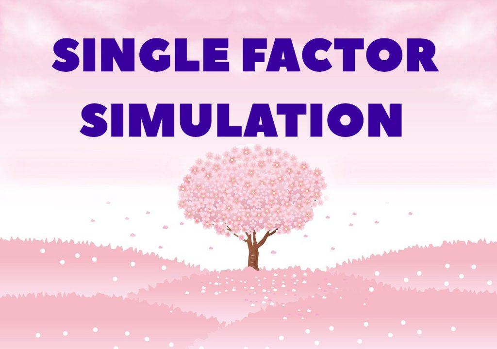 Single Factor Simulation for ecological balance
